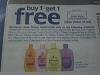 150 Coupons Buy 1 Get 1 FREE Johnson's Baby (BULK DEAL) 11/19/2017