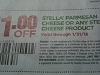15 Coupons $1/1 Stella Parmesan Cheese or Cheese Product 1/31/2018