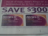 15 Coupons $3/1 Allegra D 12/30/2017