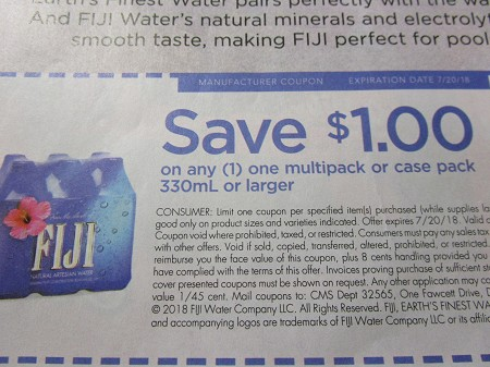 15 Coupons $1/1 Fiji Water Multipack or Case 330ml 7/20/2018