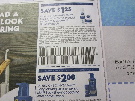 15 Coupons $1.25/1 Nivea Men Face or After Shave + 15 $2/1 Nivea Men Body Shaving Stick or Soothing After Shave Lotion 6/2/2018