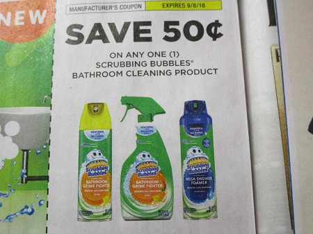 15 Coupons $.50/1 Scrubbing Bubbles Bathroom Cleaning 9/8/2018