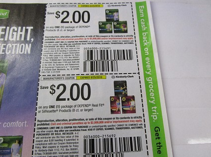 15 Coupons $2/1 Depend 8ct + 15 $2/1 Depend Real Fit or Silhouette 8ct+ 8/25/2018