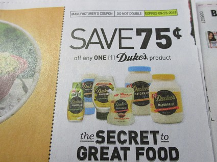 15 Coupons $.75/1 Duke's Product DND 9/23/2018