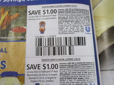15 Coupons $1/1 Hellmann's Real Ketchup + $1/1 Hellmann's Real Mayonnaise Jar 24oz, Squeeze or Organic 1/26/2019