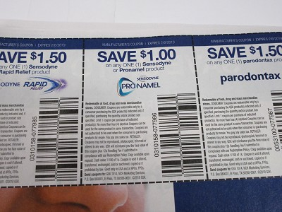 15 Coupons $1.50/1 Sensodyne Rapid Relief + $1/1 Sensodyne or Pronamel + $1.50/1 Parodontax 2/6/2019