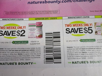 15 Coupons $2/1 Nature's Bounty Optimal Solutions Vitamin or Supplement + $5/1 Protein and Vitamin Shake Mix 1/20/2019