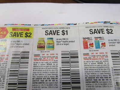 15 Coupons $2/1 Bayer Aspirin 200ct 1/20/2019 + $1/1 Bayer Aspirin 50ct + $2/12 Coricidin HBP 1/25/2019