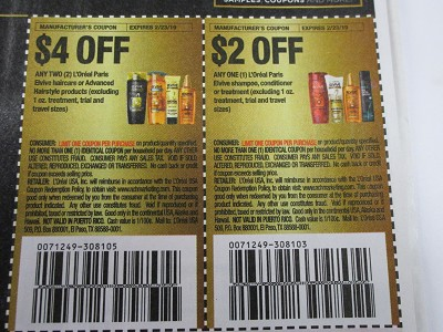 15 Coupons $4/2 Loreal Paris Elvive Hair Color $2/1 Elvive Shampoo 2/23/2019 + $3/1 Paris Cosmetic Face + $1/1  Paris Cosmetic Face 3/9/2019