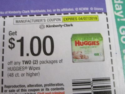 15 Coupons $1/2 Huggies Wipes 48ct+ 4/7/2019