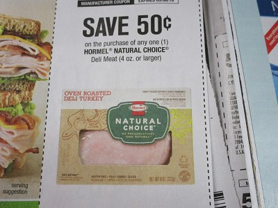 15 Coupons $.50/1 Hormel Natural Choice DELI MEAT 5/6/2019