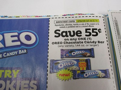 15 Coupons $.55/1 Oreo Chocolate Candy Bar 4/27/2019
