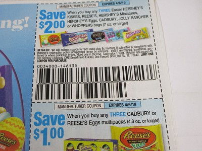 15 Coupons $2/3 Hershey's Easter Kisses, Miniatures, Eggs Cadbury 7oz + $1/3 Cadbury or Reese's Eggs Multipack 4/6/2019