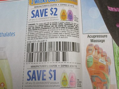 15 Coupons $2/1 Johnson's Product 4/14/2019 + $1/1 Johnson's Product 4/30/2019