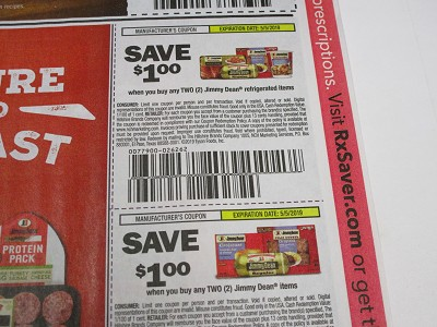 15 Coupons $1/2 Jimmy Dean Refrigerated Items + $1/2 Jimmy Dean Items 5/5/2019