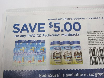 15 Coupons $5/2 PediaSure Multipacks 6/2/2019
