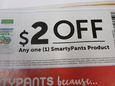 15 Coupons $2/1 SmartyPants DND 10/6/2019
