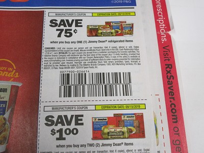 15 Coupons $.75/1 Jimmy Dean Refrigerated + $1/2 Jimmy Deam Items 9/15/2019