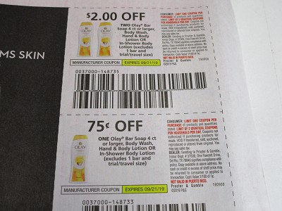 15 Coupons $2/2 Olay Bar Soap 4ct + $.75/1 Olay Bar Soap 4ct Body Wash Hand & Body Lotion or In Shower Body Lotion 9/21/2019