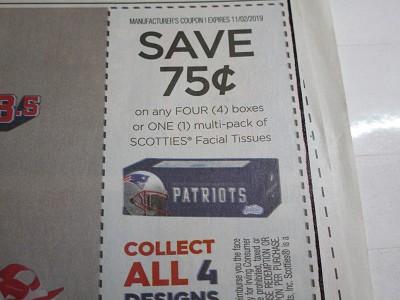 coupon tissue Scotties facial