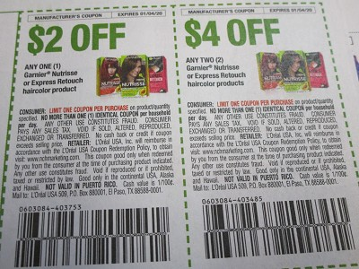 15 Coupons $2/1 Garnier Nutrisse + $4/2 Nutrisse or Express Retouch Hair Color 1/4/2020