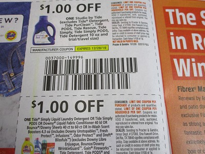 15 Coupons $1/1 Studio by Tide 12/28/2019 + $1/1 Tide Simply Liquid Laundry Detergent or Pods 1/11/2020