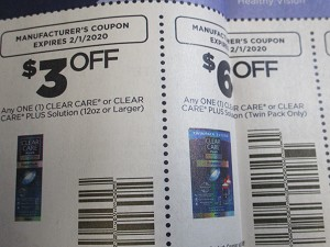 BULK DEAL $3/1 Clear Care or Plus 12oz + $6/1 Clear Care or Plus Twin Pack 2/1/2020 15 Coupons per Batch