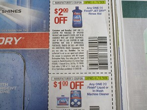 15 Coupons $2/1 Finish Jet Dry + $1/1 Finish Liquid or In Wash Machine Cleaner 1/19/2020