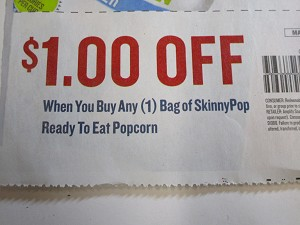 15 Coupons $1/1 bag SkinnyPOP Ready to eat Popcorn 3/31/2020