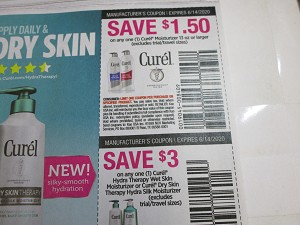 15 Coupons $1.50/1 Curel Moisturizer 13oz + $3/1 Curel Hydra Therapy Wet Skin Moisturizer or Dry Skin Therapy 6/14/2020