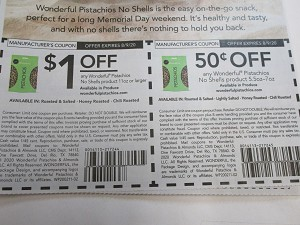 15 Coupons $1/1 Wonderful Pistachios No Shell 11oz + $.50/1 Wonderful Pistachios No shell 5.5oz -7oz DND 8/9/2020