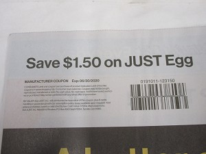 15 Coupons $1.50/1 JUST Egg 6/30/2020