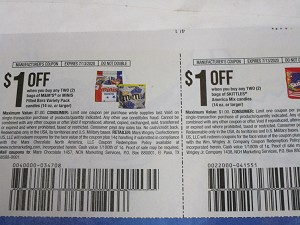 15 Coupons $1/2 bags M&M's or Minis Filled Bars + $1/2 bags Skittles America Mix 14oz 7/13/2020 DND