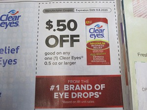 15 Coupons $.50/1 Clear Eyes .5oz 8/8/2020
