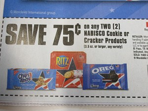 15 Coupons $.75/2 Nabisco Cookie or Cracker 8/8/2020