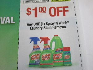 15 Coupons $1/1 Spray n Wash Laundry Stain Remover 9/12/2020