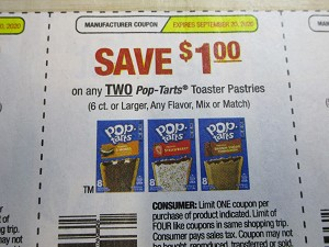 15 Coupons $1/2 Pop Tarts Toaster Pastries 9/20/2020