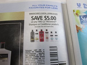 15 Coupons $5/2 Tresemme Shampoo or Conditioner 8/15/2020