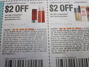15 Coupons $2/1 Maybelline New York Lip + $2/1 Maybelline NY Face 8/29/2020