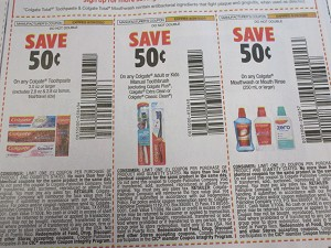 15 Coupons $.50/1 Colgate Toothpaste 3.0oz + $.50/1 Adult or Kids Manual Toothbrush + $.50/1 Colgate Mouthwash DND 8/29/2020