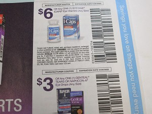 15 Coupons $6/1 Systane Icaps Eye Vitamins + $3/1 Genteal Tears or Naphcon A Eye Drops 9/26/2020