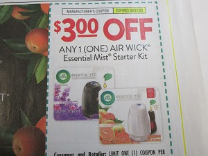 15 Coupons $3/1 Air Wick Essential Mist Starter Kit 9/27/2020