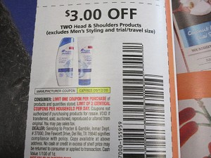15 Coupons $3/2 Head & Shoulders 9/12/2020