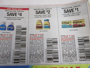 15 Coupons $4/1 Aleve or PM 40ct 9/20/2020 + $2/1 Bayer Aspirin 200ct + $1/1 Bayer 50ct 9/27/2020