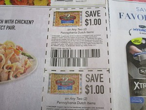 15 Coupons $1/2 Pennsylvania Dutch Pasta + $1/2 Pennsylvana Dutch 10/28/2020