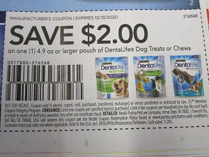 15 Coupons $2/1 Purina DentaLife Dog Treats or Chews 4.9oz+ 12/13/2020