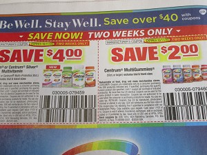 15 Coupons $4/1 Centrum or Centrum Silver + $2/1 Centrum Gummies 10/11/2020