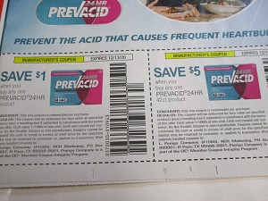 15 Coupons $1/1 Prevacid 24hr + $5/1 Prevacid 24HR 42ct 12/13/2020