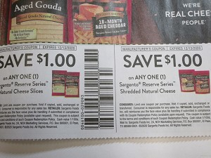 15 Coupons $1/1 Sargento Reserve Series Natural Cheese Slices + $1/1 Sargento Reserve Series Shredded Natural Cheese 12/13/2020