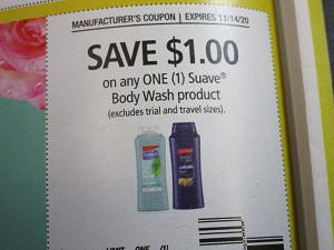 15 Coupons $1/1 Suave Body Wash 11/14/2020